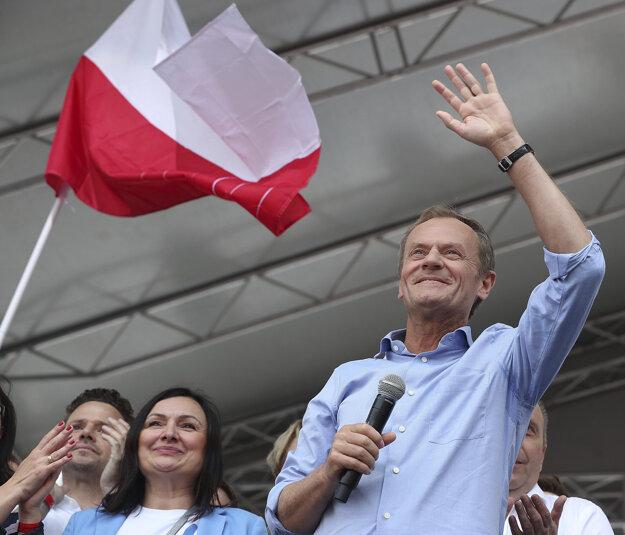 Na akcii vystúpil aj predseda Európskej rady Donald Tusk.