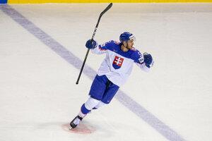 Martin Marinčin sa raduje zo svojho gólu.