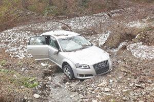 Zimu strávilo auto pod lavínou.