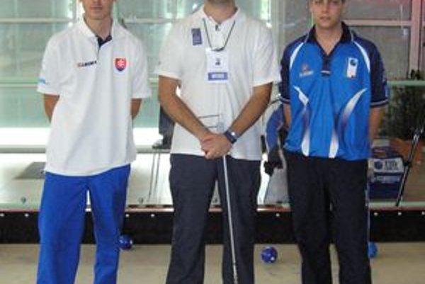 Radovan Murgaš (vľavo) s majstrom sveta Lucom Viscusim z Talianska (vpravo).