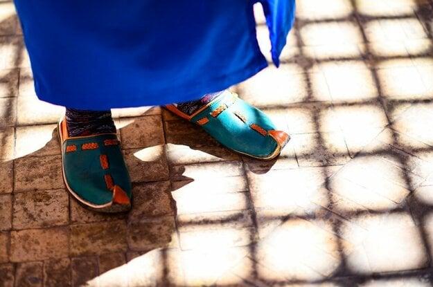 Typická marocká obuv.