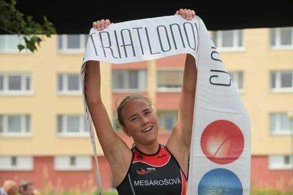 Martina Mesárošová získala slovenský titul v akvatlone.