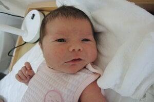 Nela Stanová (4060 g, 52 cm) sa narodila 19. mája Timee a Lukášovi z Moravského Lieskového.