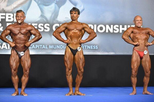 Jaroslav Ulík(v strede) na majstrovstvách Európy.