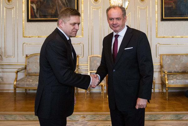 Kiska prijal premiéra Fica.