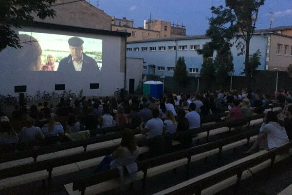 Záhradné kino v Prešove.