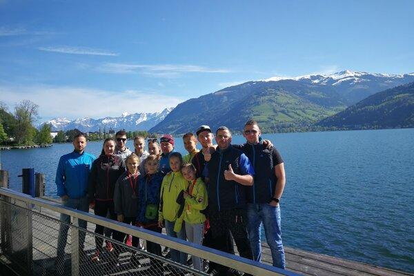 Výprava šurianskych karatistov v rakúskom Zell am See