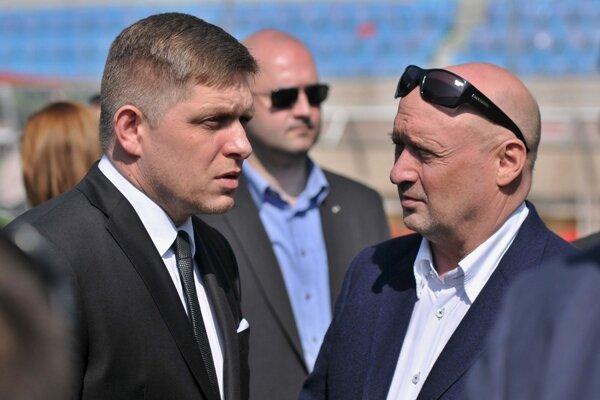 Robert Fico s Vladimírom Poórom.