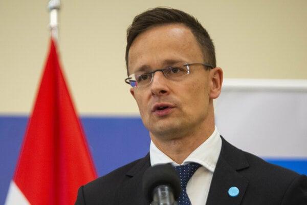 Minister zahraničných vecí Maďarska Péter Szijjártó.