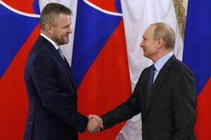 Peter Pellegrini sa stretol s Vladimirom Putinom.