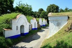 areál vínnych pivníc Plže na Južnej Morave