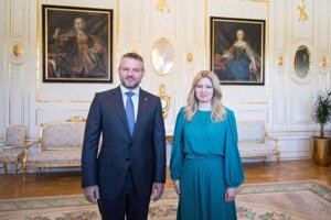 Premiér Peter Pellegrini na stretnutí s prezidentkou Zuzanou Čaputovou.