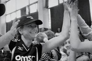 Slávka Mihálová po zisku majstrovského titulu v roku 2007.