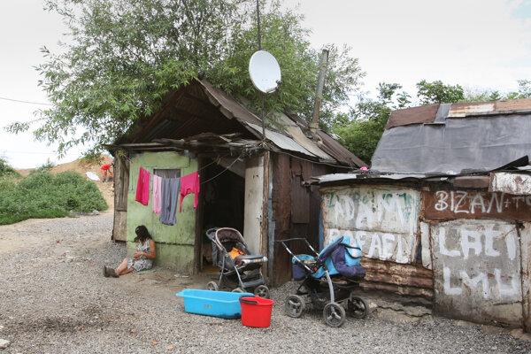 Rómovia v Moldave nad Bodvou žijú vo veľkej biede.