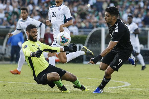 Zápas Kuba - Mexiko na CONCACAF Gold Cupe.