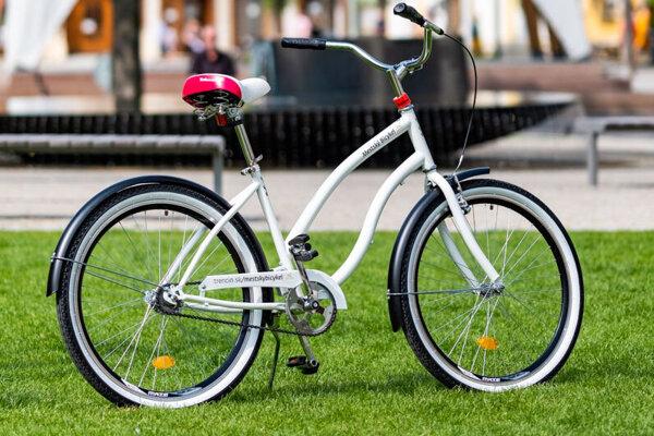Jeden z mestských bicyklov v Trenčíne