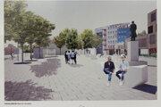 Vizualizácia Mierového námestia v Malackách.