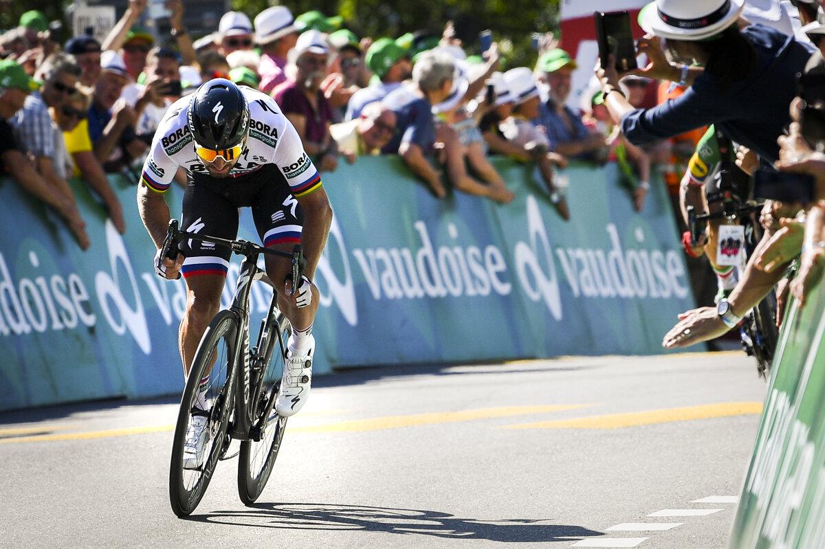 cd177dc5bedc4 Slovenský cyklista Peter Sagan z tímu Bora-Hansgrohe počas 3. etapy  pretekov Okolo Švajčiarska