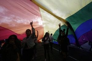 Ilustračná fotografia z pochodu Pride.