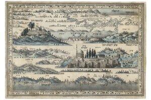 V zbierke je aj táto Mapa svätej zeme z rúk mladého spisovateľa a maliara Chaima Šloma Luriu z mesta Cfat. Ide o jedinú doteraz známu mapu Svätej zeme od tohto autora z viedenského vydavateľstva Markusa Munka.