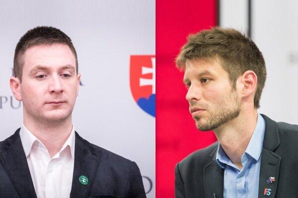 Milan Uhrík a Michal Šimečka