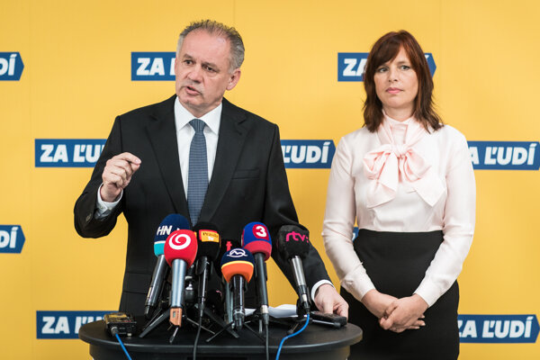Andrej Kiska a Veronika Remišová.