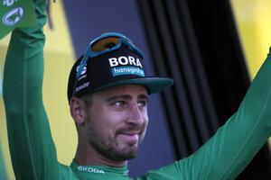 Peter Sagan v zelenom drese po 4. etape Tour de France 2019.