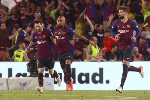 Hráči Barcelony, archívna fotografia.