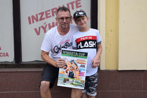 Ján Masný so synom Miškom.