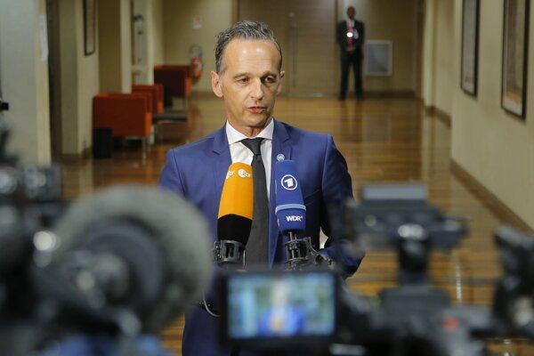 Nemecký minister zahraničia Heiko Maas v Paríži.