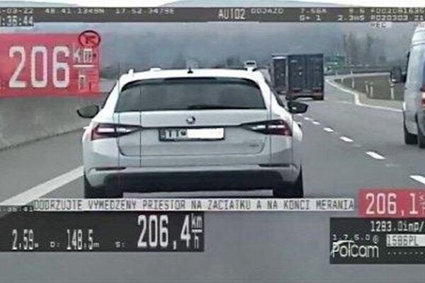 Vodič dostal za rýchlosť pokutu