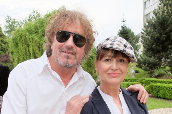 Petra Černocká s manželom Jiřím. Spoločne prídu na Bystričskú slivku.