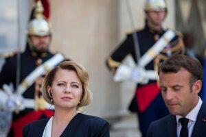 Prezident Emmanuel Macron prijal prezidentku Čaputovú.