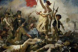 Obraz Eugène Delacroixa zobrazuje slobodu na barikádach, revolučné myšlienky dorazili aj na územie dnešného Slovenska.
