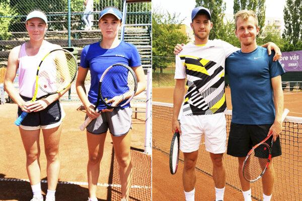 Všetci štyria finalisti - zľava Katarína Kuzmová, Martina Marušinová, Martin Fekiač a Ivan Hric.