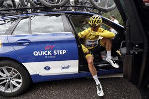Julian Alaphilippe po predčasnom ukončení 19. etapy na Tour de France 2019.
