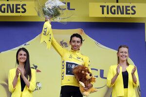 Nový líder celkového poradia Tour de France 2019 Egan Bernal.