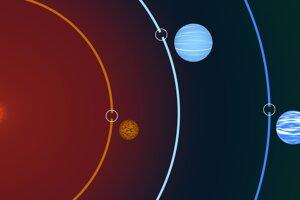 Infografika planetárneho systému TOI 270, ktorý je vzdialený 73 svetelných rokov v súhvezdí maliar.