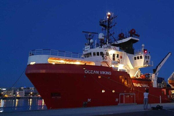 Ocean Viking je najväčším záchranným plavidlom v Stredozemnom mori.