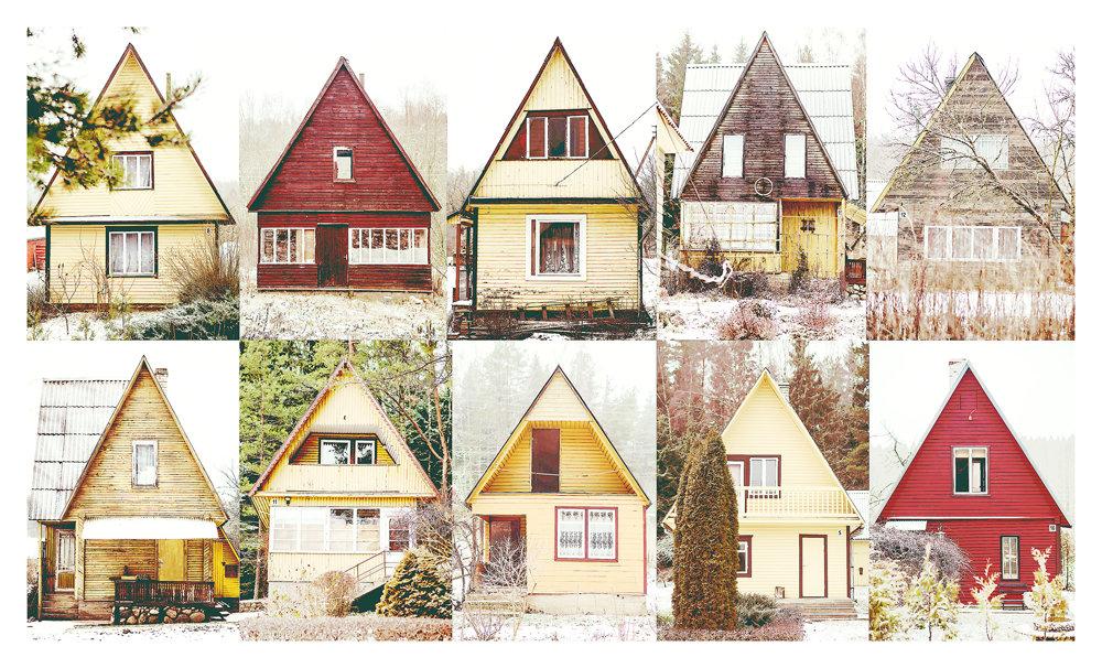 Lesné chaty v blízkosti mesta Švencionys.