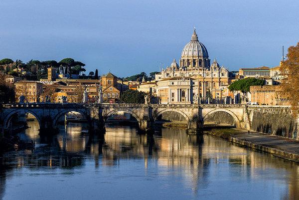 Vatikán. Bazilika sv. Petra.