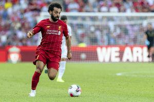 Mohamed Salah z FC Liverpool.