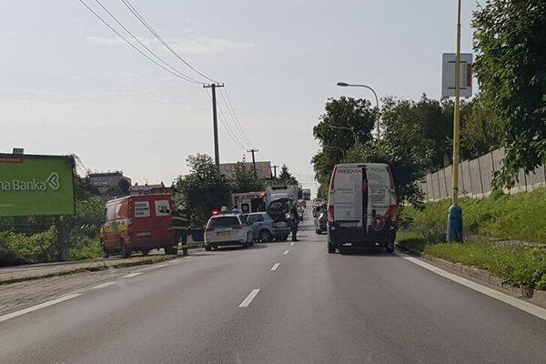 Nehoda na Šafárikovej ulici.
