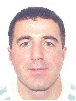 Jeton Vokrri na policajnej snímke.
