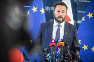 Primátor Bratislavy Matúš Vallo po stretnutí s premiérom Petrom Pellegrinim.