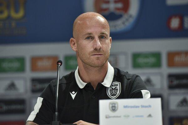 Miroslav Stoch pred zápasom Slovan Bratislava - PAOK Solún.
