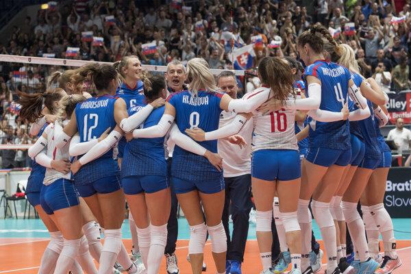 Momentka po zápase Slovensko - Španielsko na ME vo volejbale 2019.