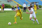 Jediný gól zápasu strelil Oleg Višnevskij (vľavo). Presadil sa po troch minútach na ihrisku.