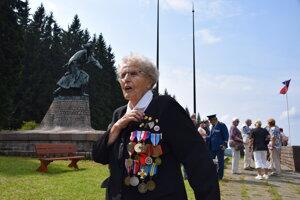 Pamätníčka partizánskych bojov Miroslava Kaštovská.