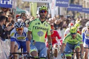 Bennati (v popredí) mal na domácej klasike Miláno - San Remo nepríjemný pád.